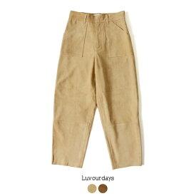 【ポイント最大38倍】【SALE!60%OFF】ラブアワーデイズ Luvourdays Baker Pants シープスキン スエード ベーカーパンツ ・LV-PT9102 #0222【送料無料】【セール】【返品交換不可】【SALE】