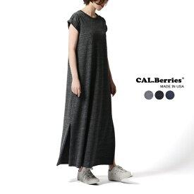 カルベリーズ CAL.Berries OTONASLIT DRESS クルーネック スウェット ロング ワンピース ドレス ・35TJ035 2019春夏新作 #0315