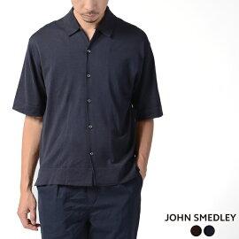 2019春夏新作ジョンスメドレーJOHNSMEDLEYコットンニットオーバーサイズワイドシルエットポロシャツ・S4300【送料無料】