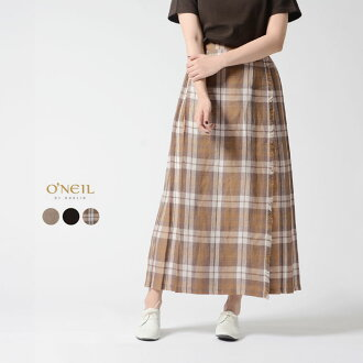 #0314 in the spring and summer latest O'Neil of Dublin O'NEIL OF DUBLIN MAXI EASY KILT linen maxi length wrap skirt winding skirt .5093L 2019