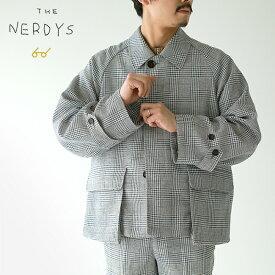 ザ ナーディーズ THE NERDYS チェック ショート コート CHECK SHORT coat ラグランスリーブ ステンカラー 比翼 フライフロント ジャケット セットアップ メンズ 2020春夏 アウター NFZ-005 【送料無料】 0328