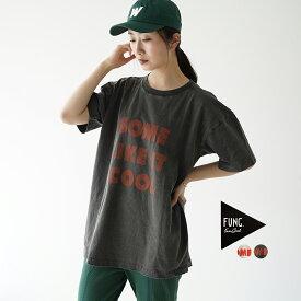 ファング FUNG Tシャツ レディース 2021春夏 クルーネック 半袖 プリント ベージュ ブラック 【メール便可】【送料無料】