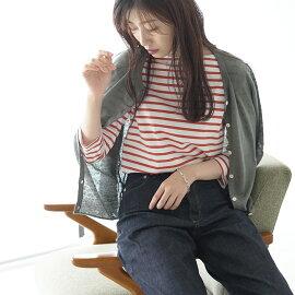 2017春夏新作maomadeマオメイドUVカットリネンクルーネック長袖カーディガン・711101#0414