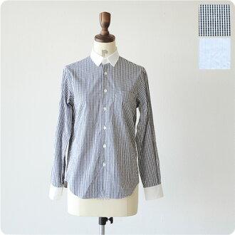 EEL iru minimal shirts/条纹布检查&条纹棉布衬衫、e-13470b(全2色)(unisex)
