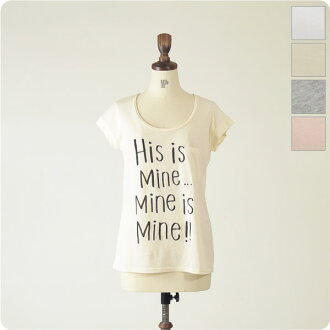 espeyrac エスペラック His is Mine ... Logo T-shirt with badge 1311007 (all four colors) (free)