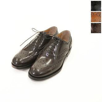 9 / 3 至 1:59 !教会的教会 BURWOOD / Burwood 抛光粘结剂皮革翼尖鞋-8705 (3 色)