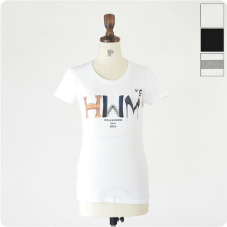 HOLLYWOOD MADE Hollywood made MISS H.W.M RT! / Logo T shirts, HWM-W12424RT (3 colors) (S & M)