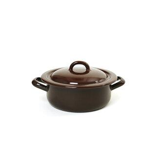 RIESS lease stew pot 16cm 1L/ stew pot brown series enamel pan .0238.0254