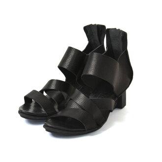 trippen trippen X + OS 系列艰难 / 背面拉链皮革交叉背带凉鞋 WAW