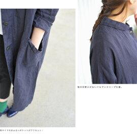 tumuguツムグリネンキャンバスシャツコート・tb15108(全2色)(free)【2015春夏】