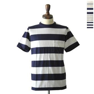 N (4 色) 161560 w,韋爾瓦光澤 Sheen】Pack 邊境圓領口袋 T 襯衫 (S、 M、 L)