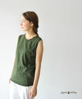 pyjamaclothingピジャマクロージングROUNDSLEEVELESS/ラウンドスリーブレスTシャツ・905/S16W4【2016春夏】[532P19Apr16]