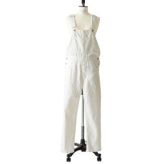Luvourdays愛小時日Over 3 quarters/白粗斜紋布連褲工作服、lv-pa130 white