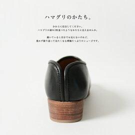 2017春夏新作hcubuchフーブすずめレザーサボローヒールシューズ・H065【送料無料】#0505