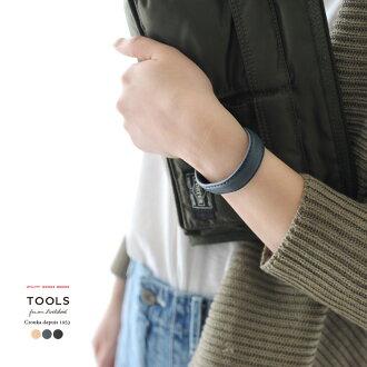 ★2017春天夏天新作品TOOLS工具BANGLE皮革手镯15mm、ht05f#0523
