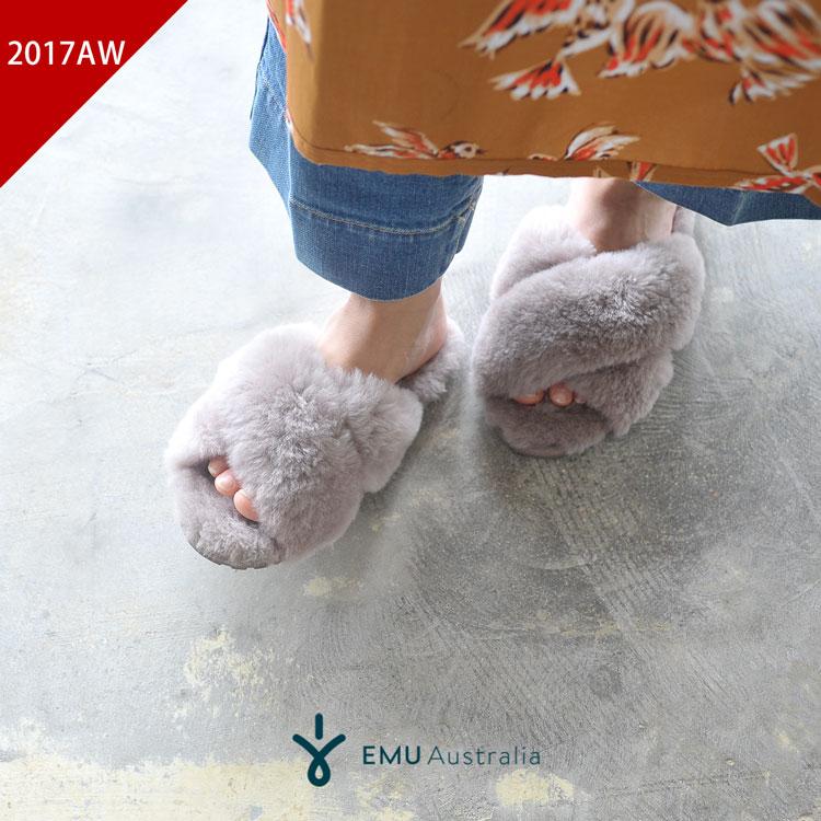 2017秋冬新作 EMU エミュ/エミュー Mayberry メイベリー ファーサンダル ・W11573 #0824