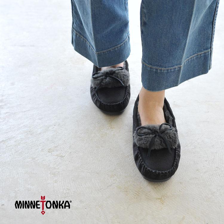 【SALE!35%OFF】minnetonka ミネトンカ synthetic khloe2 slipper / シンセティック クロエ スリッパー ファーモカシン シューズ #0901【セール】【返品交換不可】【SALE】