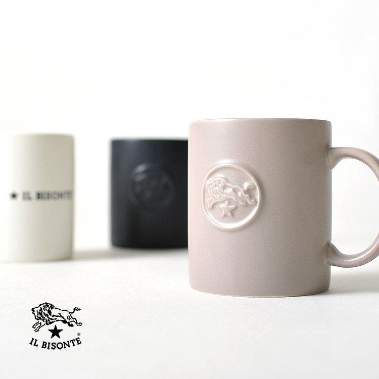 【ポイント最大33倍】2017秋冬新作 IL BISONTE イルビゾンテ ロゴデザイン マグカップ コップ ・54172-3-04498 #1030