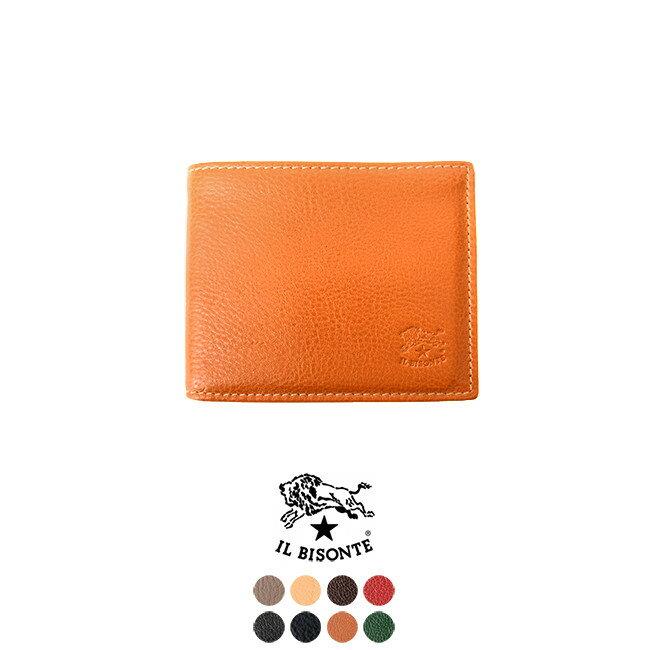 2018春夏新作 IL BISONTE イルビゾンテ 二つ折り 財布 コンパクト ウォレット ・411853 【送料無料】 #0223