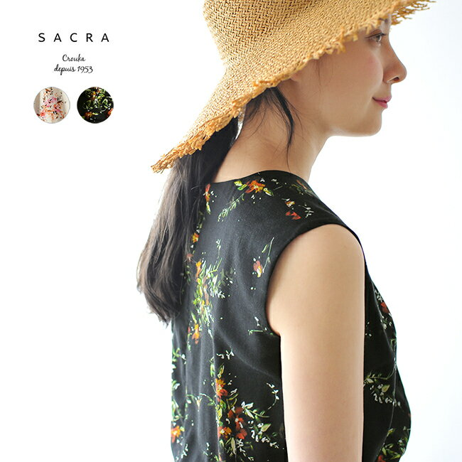 2018春夏新作 SACRA サクラ MULTI FLOWER DRESS マルチ フラワープリント ワンピース ドレス ・118200042 【送料無料】 #0413