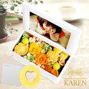 \遅れてごめんね/母の日 ギフト 2021 プレゼント ギフト プリザーブドフラワー 花 フォトフレーム 写真立て 写真た…