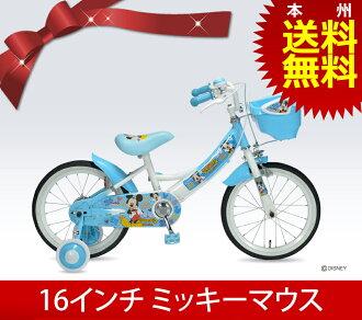 미키마우스 어린이용 자전거 16 인치 보조고리 첨부/MD-06 세일 할인 디즈니 키즈 사이클 기프트 입학 축하 생일 통판