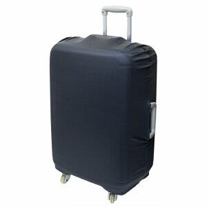 ミヨシ 撥水加工スーツケースカバー Lサイズ 60〜90L用 サイズ調整ボタン付き ブラック [MBZ-SCL3-BK]【送料別】旅行 スーツケース 海外 空港