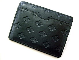 廃盤 PATRICK COX パトリックコックス エンボスモノグラム レザーパスケース (カードケース 財布) 035400 【中古】