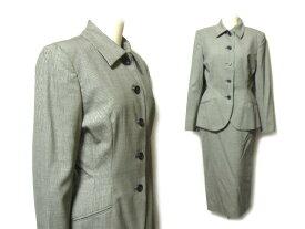 RALPH LAUREN 定番 クラシック千鳥チェックセットアップスカートスーツ・ジャケット classic check skirt set up suit (ラルフ 036621 【中古】