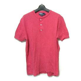 Polo Ralph Lauren ポロ ラルフローレン 「M」 ピンクミリタリー ヘンリーネックカットソー (半袖Tシャツ) 038171 【中古】