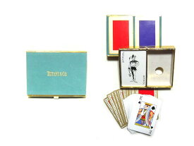 vintage old Tiffany&Co. ヴィンテージオールド ティファニー トランプ ボックス セット (ビンテージ) 038858 【中古】