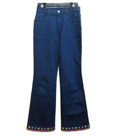 Sugarless gal ベルボトムヒッピー花刺繍デニムパンツ Bell bottom hippie flower embroidery denim pants (シュガーレスカー 040303 【中古】