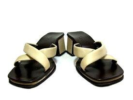 POLLINI クラシックオリエンタル レザーサンダル Oriental Classic Leather Sandals ポリーニ 041693 【中古】