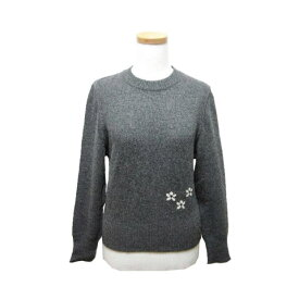 DO FAMILY クラシックフラワー刺繍ニットセーター (Classic flower embroidery knit sweater) ドゥー ファミリー 花柄 046672 【中古】