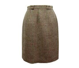 Pluck PARIS クラシックツイードチェック柄スカート (Check Tweed Skirt Classic) 048464 【中古】