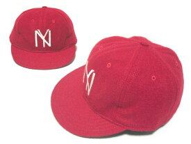 【新古品】 COOPERSTOWN BALL CAP CO. クーパーズタウン 1935 ニューヨークブラックヤンキース レッド ボールキャップ刺繍 057158 【中古】