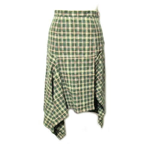 Vivienne Westwood ヴィヴィアンウエストウッド イタリア製 アシンメトリーチェック柄スカート 057849 【中古】