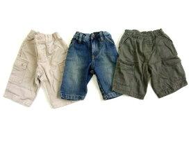 baby GAP+MUJI ベイビーギャップ+無印良品 パンツ3本セット (キッズ) 060031 【中古】