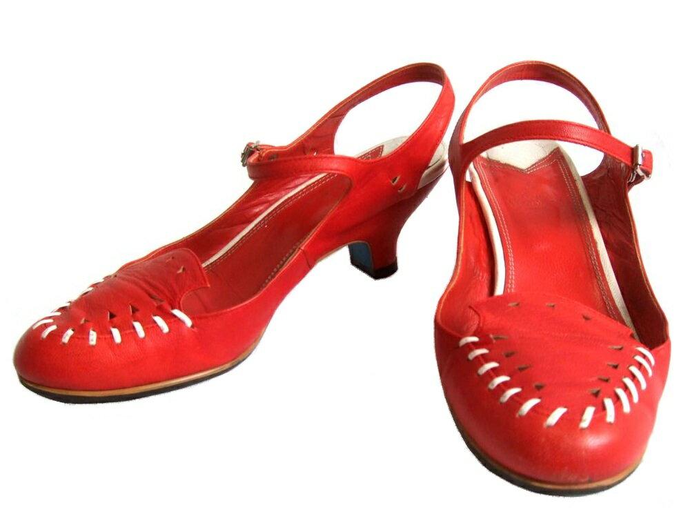 廃盤 Vivienne Westwood ヴィヴィアンウエストウッド 「36.5」 ステッチレザーサンダル (ビビアン シューズ 靴) 071225 【中古】
