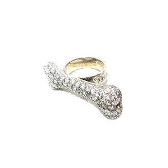 "Vivienne Westwood""M""Silver bone ring維維恩維斯特伍德銀子博恩環(維維安人員MAN)072389"