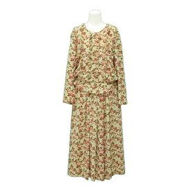 KETTY ケティ 薔薇 立体フリル セットアップスーツ (ブラウス スカート) 075676 【中古】