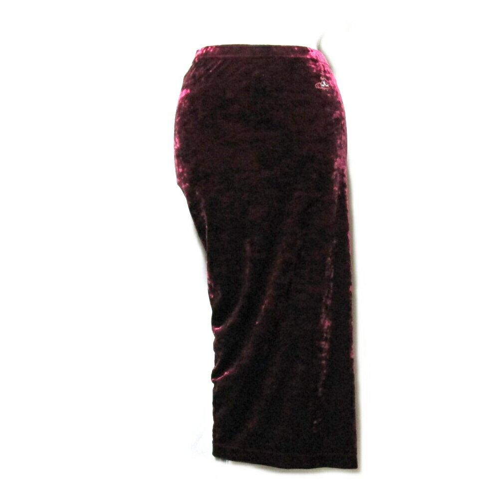 【新古品】 Vivienne Westwood RED LABEL ヴィヴィアンウエストウッド レッドレーベル 「2」 アシンメトリーベルベットスカート 079110 【中古】