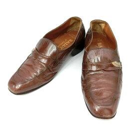 vintage old BALLY ヴィンテージオールド バリー 「5 1/2」 アンティークレザーローファー (靴シューズ) 084919 【中古】
