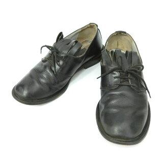 """80 年代复古帕特里克 · 考克斯 × 薇薇恩 · 韦斯特伍德帕特里克 · 考克斯 x Vivienne 西林""""UK3""""流苏皮革鞋 085122"""