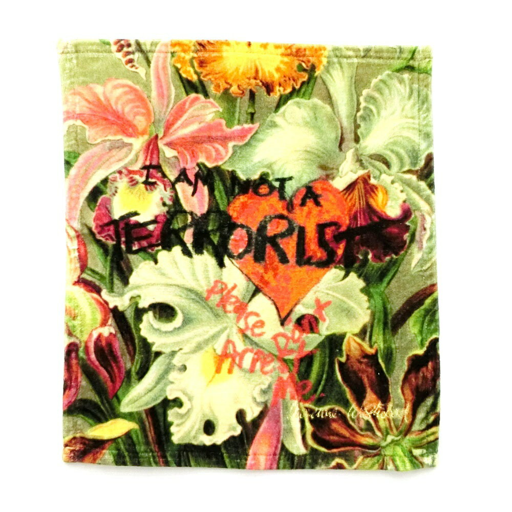 【新古品】 Vivienne Westwood ヴィヴィアンウエストウッド オーキッド I AM NOT TERRORIST タオル中 085344 【中古】