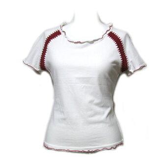"Jean Paul GAULTIER Jean-Paul Gaultier ""40"" イントレチャート reshuffling stretch T-shirt (ゴルチェ short sleeves white white) 085459"
