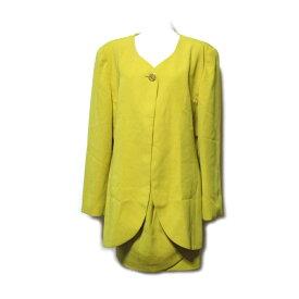 vintage ELLE PARIS ヴィンテージ エル 「38」 マオカラーセットアップスカートスーツ (ジャケット) 089521 【中古】
