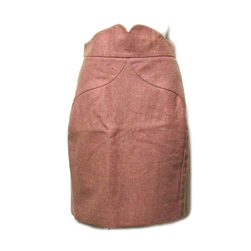 Vivienne Westwood RED LABEL ヴィヴィアンウエストウッド レッドレーベル 「42」 イタリア製 ピンクプリンセスウールスカート 091372 【中古】