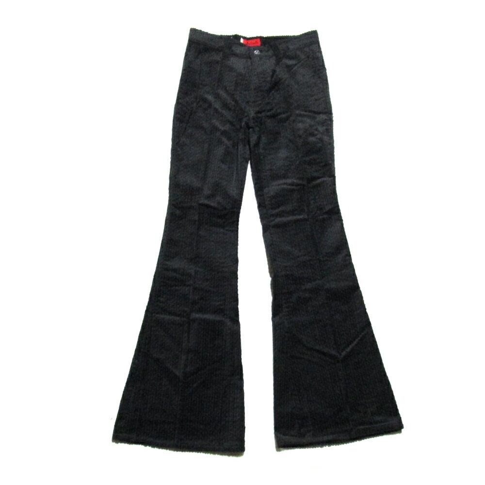 デッドストック Vintage Levi's ヴィンテージ リーバイス 「W26×L32」 ブラックコーデュロイフレアパンツ (デニム miss ミス 黒) 092160 【中古】