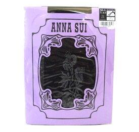 廃盤 ANNA SUI アナスイ 「M〜L」 ブルーミングフラワーストッキング (タイツ ブラック 黒) 092262 【中古】